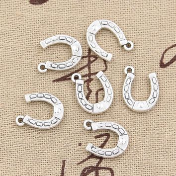 30pcs Charms lucky horseshoe horse 15*12mm Antique pendant fit,Vintage Tibetan Silver,DIY for bracelet necklace