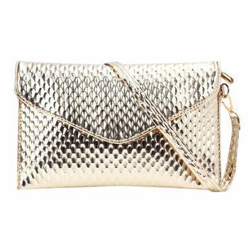 New Envelope Clutch Bag Fashion Snakeskin Leather Women Messenger Bags Women Handbags Clutch Girls Ladies Crossbody Bags