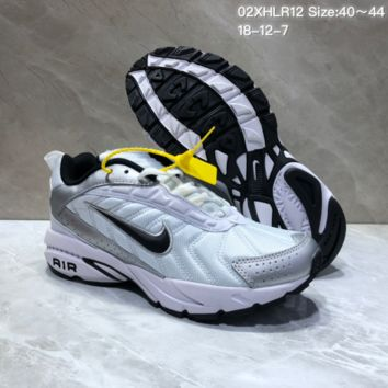 KUYOU N862 Nike Air Span II Light New Cushion Casual Running Shoes White Sliver Black 1