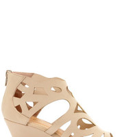 Bamboo Matthew 08 Nude Cutout Cage Wedges