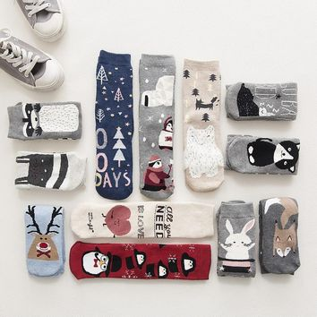 Holiday Variety Animal & Santa Thick Socks