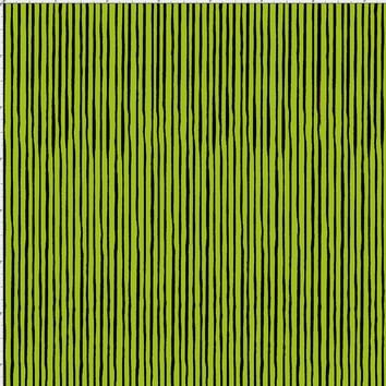 Quirky Pin Stripe Green / Black Fabric