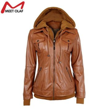 Women Leather Jacket Ladies Suede Coat Motorcycle Faux PU Leather Jacket Female Winter Coats Jaqueta Feminina Couro Mujer YL364