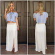 Split Into Two Maxi Skirt - White