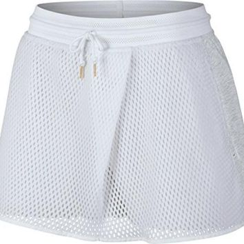 ONETOW Nike Womens NikeCourt Tennis Skirt White/Birchheather (Medium)