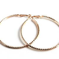 """Hoop Dreams""  Gold Hoop Earrings"