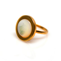 Gold Forever Lux Ring (mother of pearl inlay)