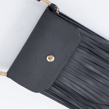 Playful Fringed Mini Bag
