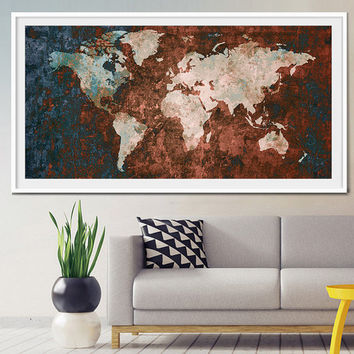 Fineartcenter on etsy on wanelo world map print wall decor world map art large world map abstract gumiabroncs Image collections