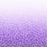 Ombre purple and white swirls doodles Fabric Fabric