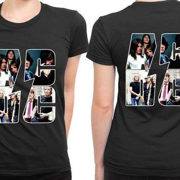 VONEED6 ACDC Best Moments Photo Clip On 2 Sided Womens T Shirt