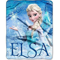 "Disney's Frozen Silk Touch Elsa Palace Throw Blanket  40""x50"""
