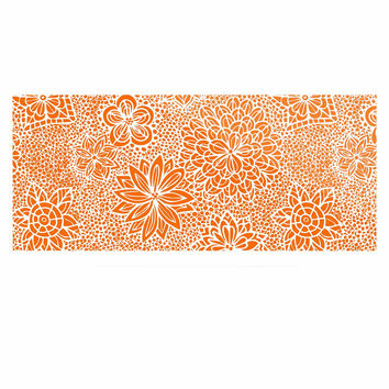 "Julia Grifol ""Garden Flowers"" Orange Floral Luxe Rectangle Panel"
