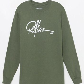 ICIKJH6 Young and Reckless Signature Long Sleeve T-Shirt