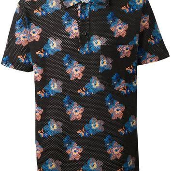 Marc Jacobs Floral Print Polo Shirt