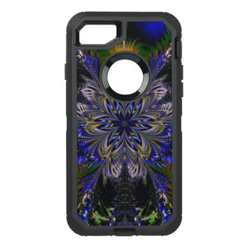 awesome flower fractal OtterBox defender iPhone 7 case