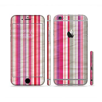 The Vintage Wrinkled Color Tall Stripes Sectioned Skin Series for the Apple iPhone 6 Plus