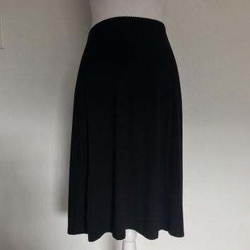 J JILL Wearever Collection Women's Plus Size XL Black Midi Stretch Skirt