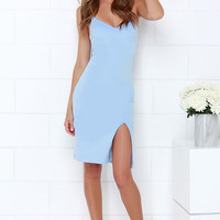 Beautifully Bold Light Blue Bodycon Dress