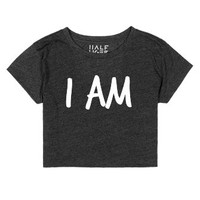 I AM | White-Female Heather Onyx T-Shirt