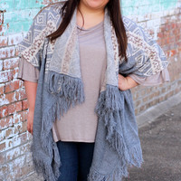 Adventures Await Sweater Cardigan {Curvy}