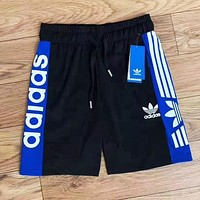 Adidas Summer Popular Women Men Casual Classic Print Sports Shorts Black&White