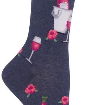 Rosè Wine Women's Crew Socks