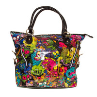 IRON FIST PARTY MONSTER TOTE BAG (BLACK)