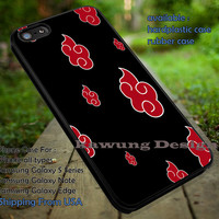Akatsuki Cloud Pattern Case iPhone 6s 6 6s+ 6plus Cases Samsung Galaxy s5 s6 Edge+ NOTE 5 4 3 #cartoon #anime #Naruto dt