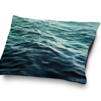 Dark Waters 3 - Pet Bed, Ocean Nautical Style Pet Pillow Bedding, Coral Fleece Dog & Cat Pet Bed Accessory Accent. In Small Medium Large