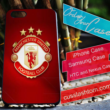 Exclusive Manchester United iPhone for 4 5 5c 6 Plus Case, Samsung Galaxy for S3 S4 S5 Note 3 4 Case, iPod for 4 5 Case, HtC One M7 M8