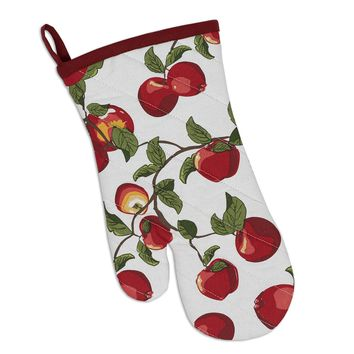 Apple Orchard Printed Oven Mitt  2 Sets of 2