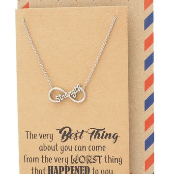 Merry Strength Best Thing Necklace for Women, comes with Inspirational Quote