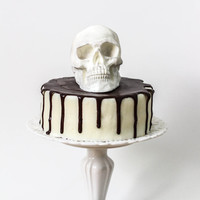 1 Irish Cream Chocolate 3D Skull: Au Naturale
