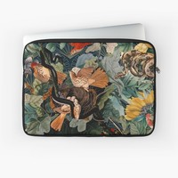 'Birds and snakes' Laptop Sleeve by Burcu Korkmazyurek