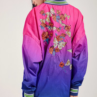 Silence + Noise Oversized Ombre Souvenir Jacket | Urban Outfitters