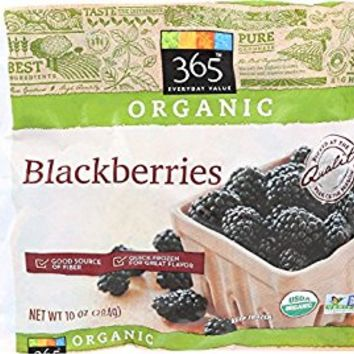 365 Everyday Value, Organic Blackberries, 10 oz, (Frozen)