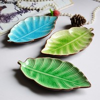 Banana Leaf Shape, Leaf Dish, Ceramic Dishes, Ice Crack Glaze, Lovely, Sushi Dishes, Tableware,flatware, Small Plate