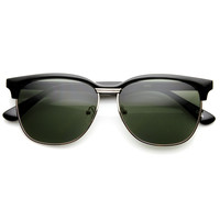 New Retro Large Half Frame Horned Rim Sunglasses 9133
