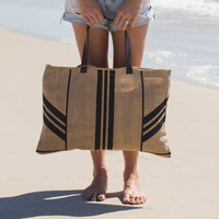 The Beach People - Jute Beach Bag / Stripe