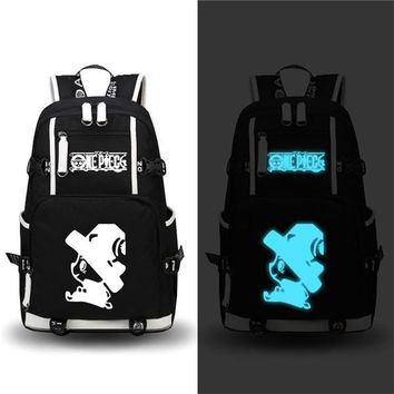 Japanese Anime Bag NEW Printing Fashion  One Piece backpack Roronoa Zoro Chopper Luffy Cosplay men shoulder travel bag Canvas Women Schoolbag AT_59_4