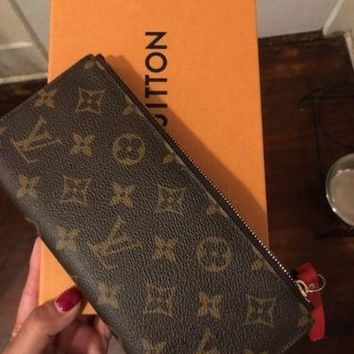LOUIS VUITTON ADELE WALLET, COQUELICOT