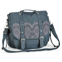 Crochet-Trim Convertible Messenger Backpack - Aeropostale