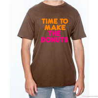 Time to make the donuts shirt-vintage dunkin donuts shirt-old school shirt-old skool shirt-vintage shirt-mens vintage shirt-AppleCopter