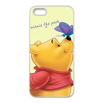 Winnie The Pooh and Butterfly Protection Case Cover For iPhone 4/4s/5/5s/5c/6/6s/6plus/6s plus Bear