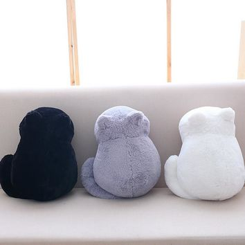 Hoomall 1PC Cute Cat Plush Cushion Pillow Animal Home Pillows Supplies Toy Filled Pillowcase For Car Home Decoration
