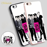 Minason Music Band One Direction Mobile Phone Shell Soft TPU Silicone Case Cover for iPhone X 8 5 SE 5S 6 6S 7 Plus