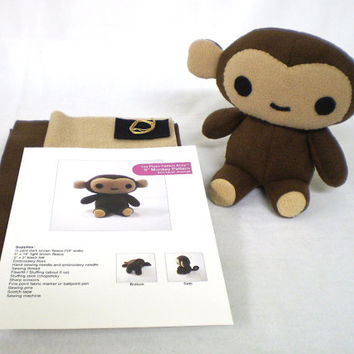 Plush Monkey Sewing Kit DIY
