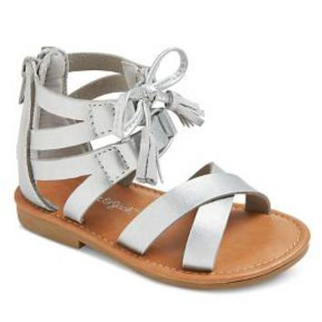 Toddler Girls' Paulina Two Piece Ghillie Slide Sandals Cat & Jack™ - Silver