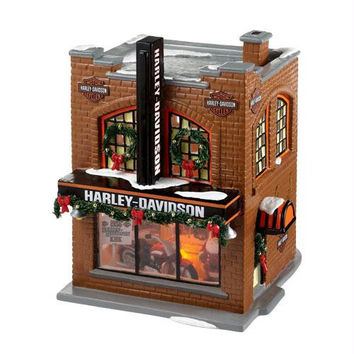 """ Harley Davidson Snow Village ""  - Officially Licensed Merchandise"